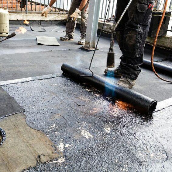 Modified bitumen roof installation process