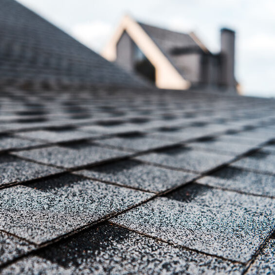Close up of commercial roofing
