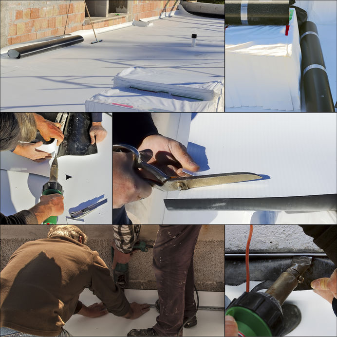 EPDM roof collage