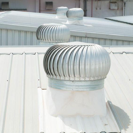 Metal roof on commercial property
