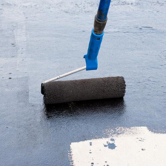 Roof restoration coating application